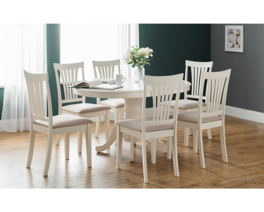 Oval Extending Dining Table 4 Chairs, Round Extendable Dining Table Set White